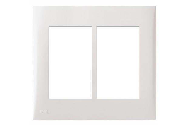 Placa com Suporte 4x4 6 Módulos Imperia Branca - Iriel