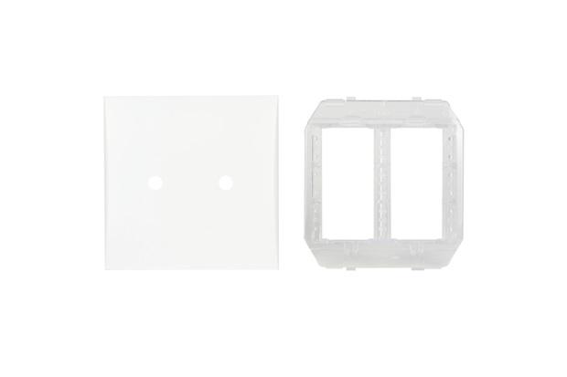 Placa com Suporte 4x4 com 2 Furos Imperia Branca - Iriel