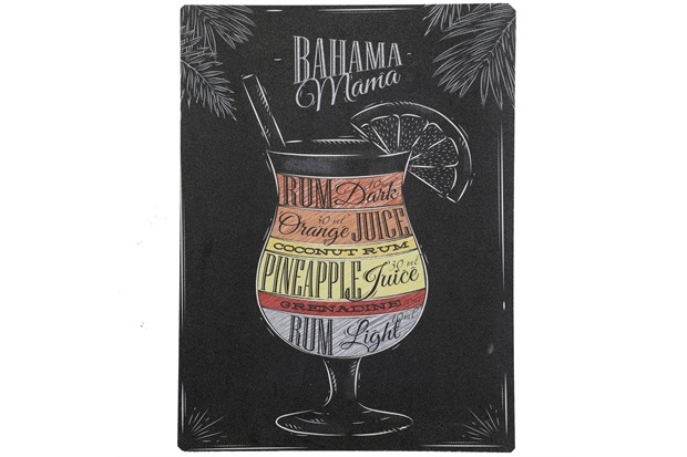 Placa Decorativa 30 X 40 Cm Blackboard Bahama Mama - Império Decore