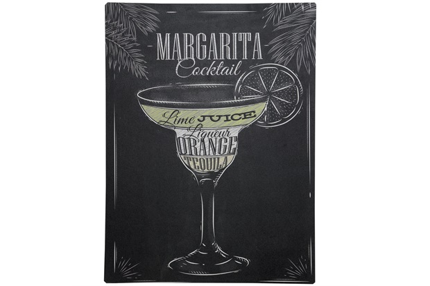 Placa Decorativa Blackboard Margarita Cocktail 30 X 40 Cm 1765 - Império Decore