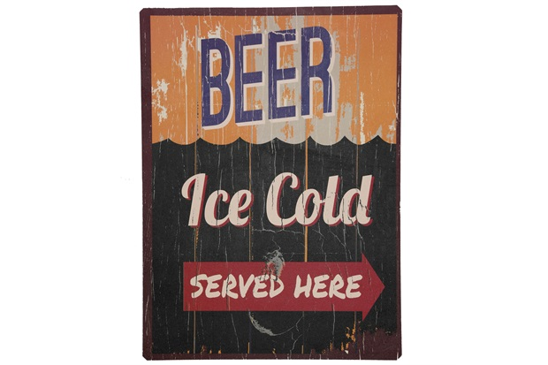 Placa Decorativa Cold Beer Ice 40 X 30 Cm  - Império Decore