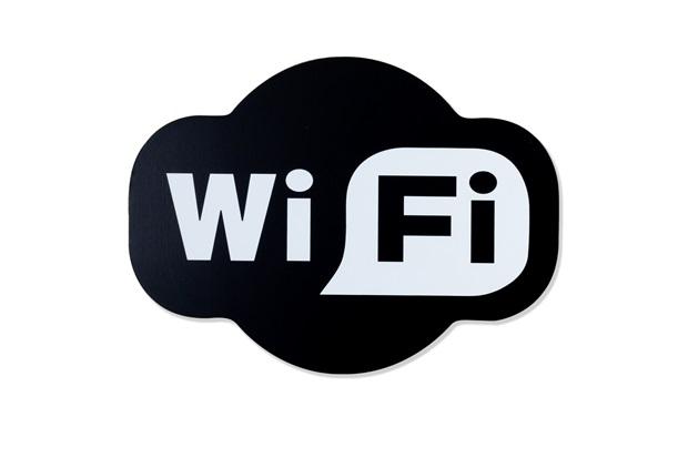 Placa Decorativa em Madeira 27x20cm Wi-Fi - Casa Etna