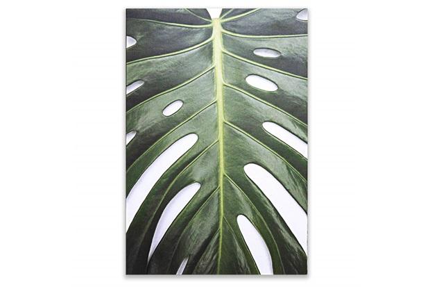 Placa Decorativa em Madeira Folhagem 2 44x30cm - Casa Etna