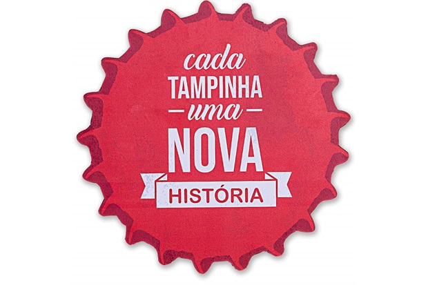 Placa Decorativa em Madeira Formato Tampinha 24cm - Casa Etna