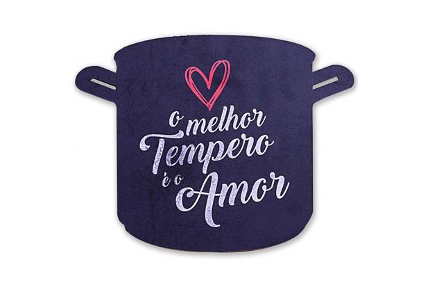 Placa Decorativa em Madeira Formato Tempero 28x22cm - Casa Etna