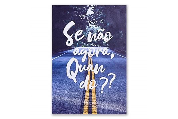 Placa Decorativa em Madeira Se Não Agora 29x20cm - Casa Etna
