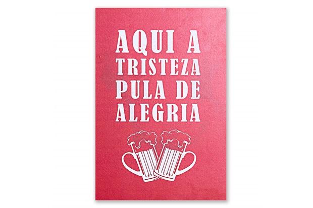 Placa Decorativa em Madeira Tristeza Beer 29x20cm - Casa Etna