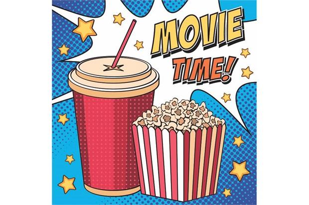 Placa Decorativa em Mdf Movie Time 25x25cm - Kapos