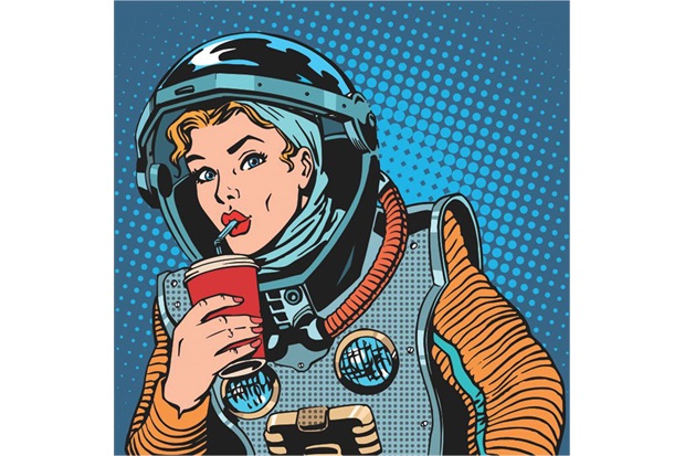 Placa Decorativa em Mdf Space Woman 25x25cm - Kapos