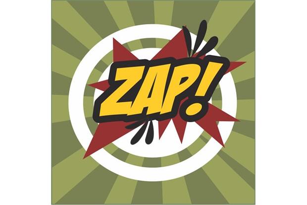 Placa Decorativa em Mdf Zap 25x25cm - Kapos