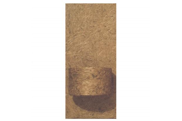 Placa em Fibra de Côco 15x32cm Natural com 1 Vaso - Agrofor