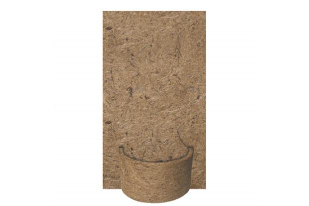 Placa em Fibra de Côco 15x32cm Natural com Meio Vaso - Agrofor