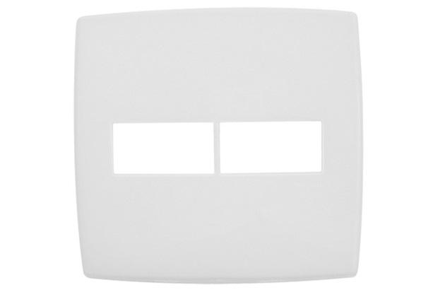 Placa para 1 + 1 Postos 4x4'' Pialplus Branca - Pial Legrand