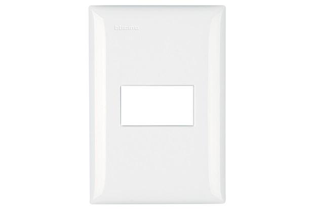 Placa para 1 Módulo 4''X2'' Thesi Up Branca - BTicino