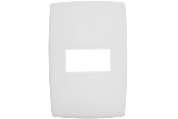 Placa para 1 Posto Horizontal 4x2'' Pialplus Branca - Pial Legrand