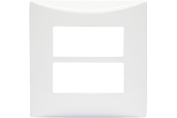 Placa para 2 Módulos com Suporte Sistema Brava Branco - Iriel