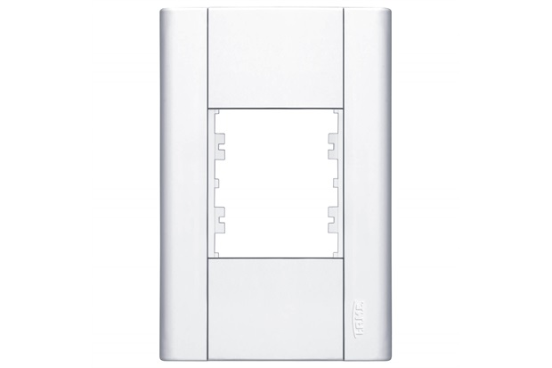 Placa para 2 Módulos Horizontais 4''X2'' Modulare Branca - Fame