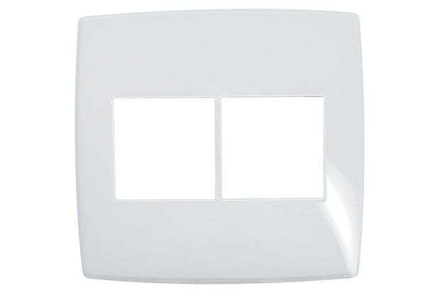 Placa para 2 Postos Adjacentes Gloss 4x4  - Pial Legrand