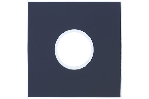 Placa para 2 Postos Redonda Arteor Mirror Black 4x4 - Pial Legrand
