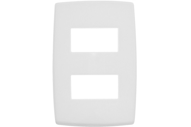 Placa para 2 Postos Separados 4x2'' Pialplus Branca - Pial Legrand