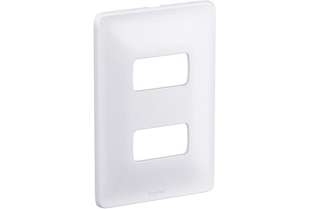 Placa para 2 Postos Separados Zeffia 4x2'' Branca - Pial Legrand