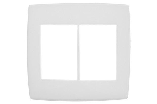 Placa para 3 + 3 Postos 4x4'' Pialplus Branca - Pial Legrand
