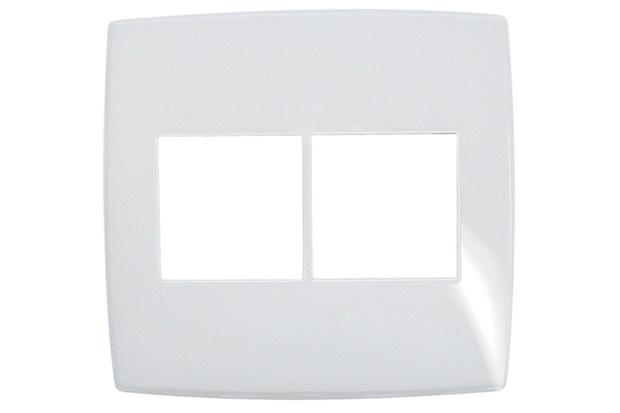 Placa para 3 + 3 Postos Pialplus Gloss 4x4'' Branca - Pial Legrand