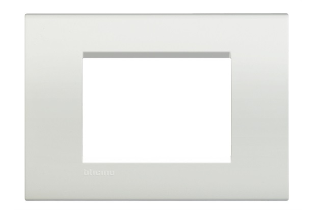 Placa para 3 Postos 4x2 Living Light Bianco - BTicino
