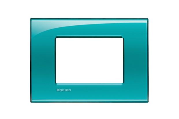 Placa para 3 Postos Quadrado 4x2 Verde - BTicino