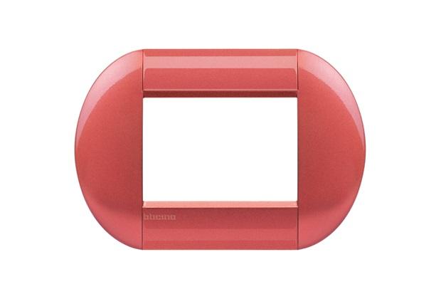 Placa para 3 Postos Redondo 4x2 Sunset - BTicino