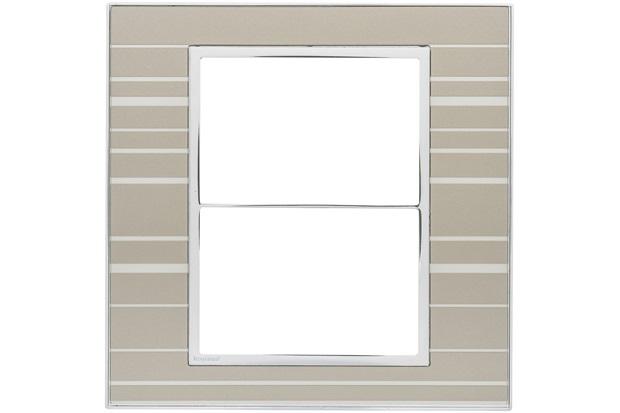 Placa para 3 Postos Separados Arteor Formal 4x4 - Pial Legrand