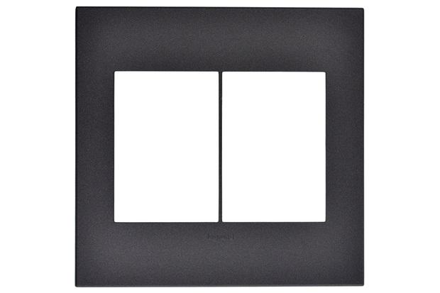 Placa para 3 Postos Separados Arteor Grafite 4x4 - Pial Legrand