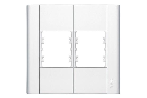 Placa para 4 Módulos Horizontais 4''X4'' Modulare Branca - Fame