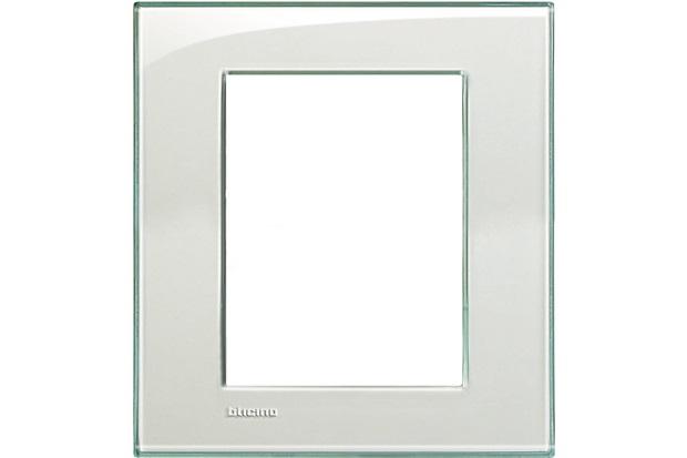 Placa para 6 Postos Living & Light Kristal 4x4 - BTicino