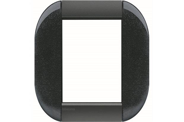 Placa para 6 Postos Redonda Living & Light Anthracite 4x4'' - BTicino