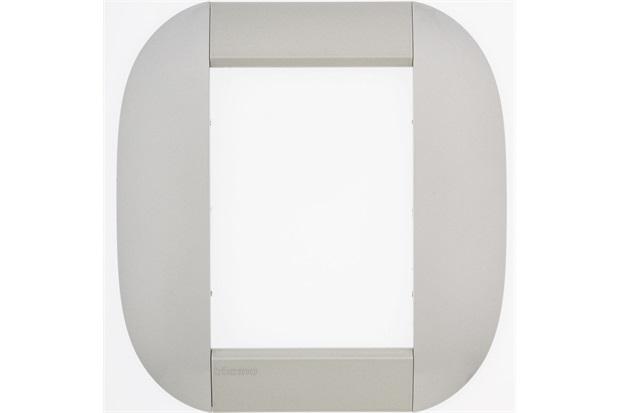 Placa para 6 Postos Redonda Living & Light Tech 4x4'' - BTicino