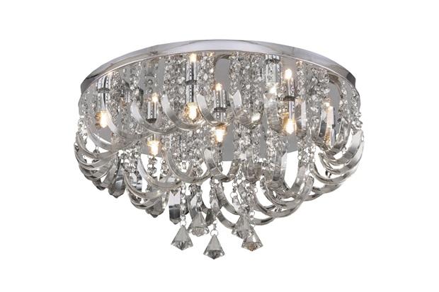Plafon Arcos de Cristal para 9 Lâmpadas - Hevvy