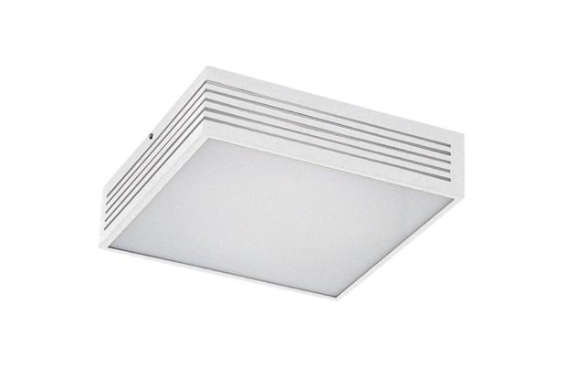 Plafon em Alumínio para 3 Lâmpadas Rasgo 35x35cm Branco - Pantoja & Carmona