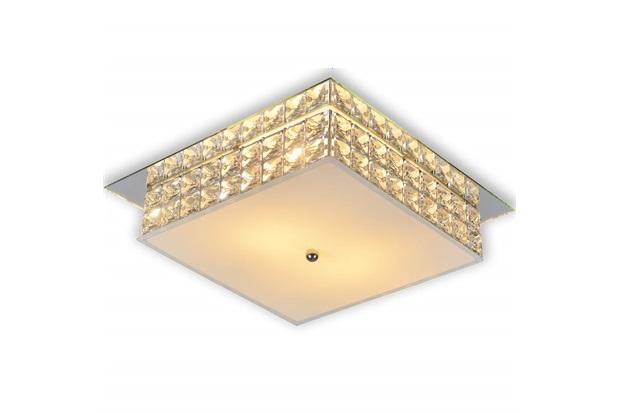 Plafon em Vidro Quadrado para 2 Lâmpadas London 25cm - Startec