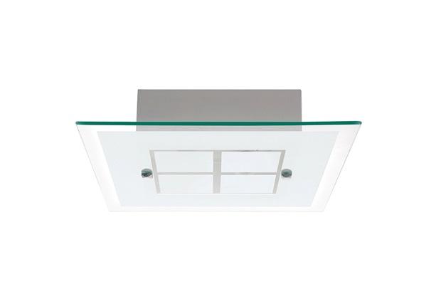 Plafon em Vidro Quadrado para 2 Lâmpadas Módena 40cm Branco - Auremar