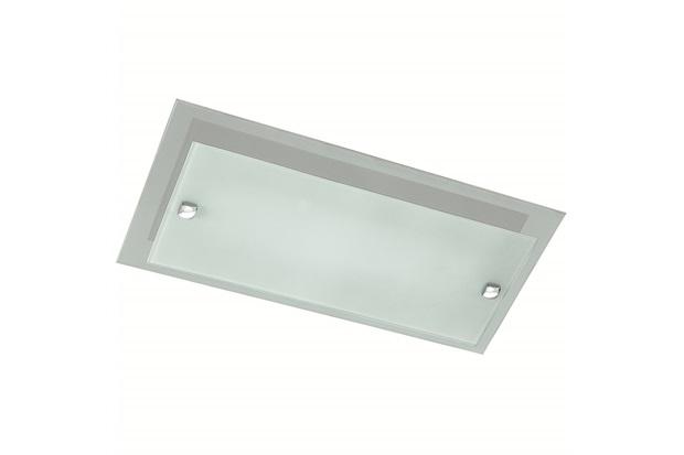 Plafon em Vidro Retangular para 3 Lâmpadas Plana 73x24cm Preto - Pantoja & Carmona