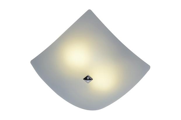 Plafon Fosco Quadrado Branco 25x25cm - Casanova