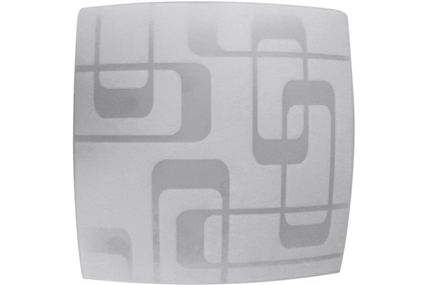 Plafon Leblon para 2 Lâmpadas Quadrado Soquete E27 30x30cm  - Bronzearte