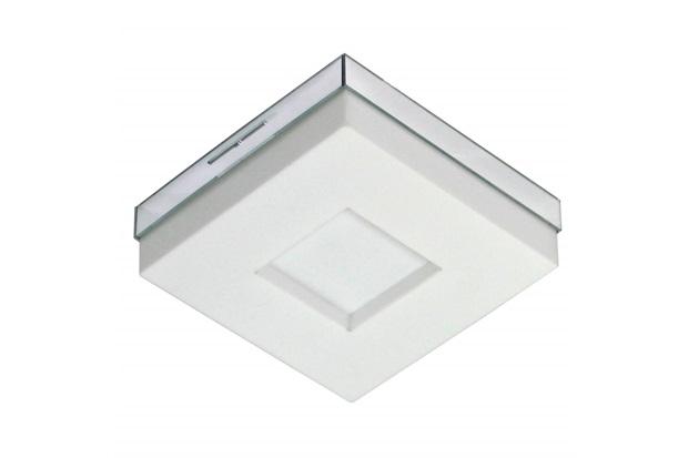 Plafon Led de Sobrepor Quadrado 18cm 9w Asturias 6500k Bivolt Luz Branca - Tualux