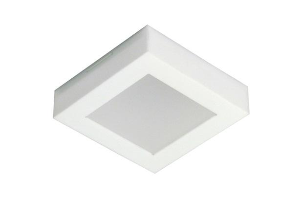 Plafon Led de Sobrepor Quadrado 18cm 9w Londres 6500k Bivolt Luz Branca - Tualux