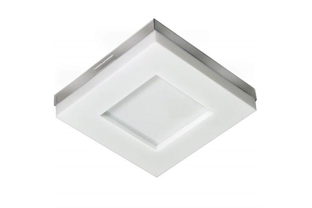 Plafon Led de Sobrepor Quadrado 26cm 16w Asturias 6500k Bivolt Luz Branca - Tualux