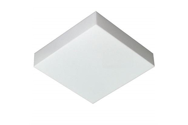 Plafon Led de Sobrepor Quadrado 26cm 16w Valencia 6500k Bivolt Luz Branca - Tualux