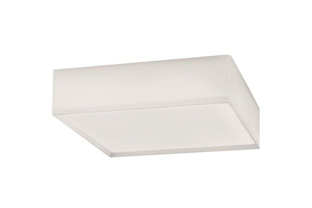 Plafon Led White Quadrado 10w 127v 22x22cm - Bronzearte