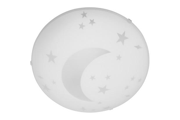 Plafon Luna 25 Cm para 1 Lâmpada Vidro Branco  - Bronzearte