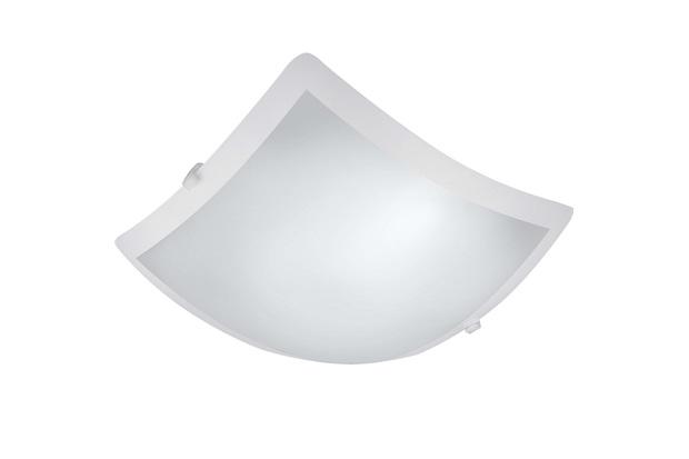 Plafon New Clean Led Quadrado 20w 127v 35x35cm Branco - Bronzearte